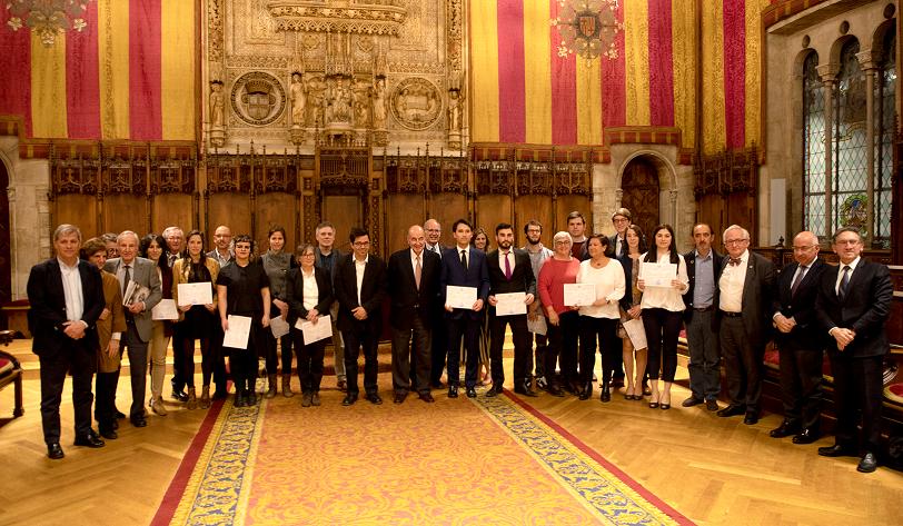 Acto de entrega de los premios Amics del País