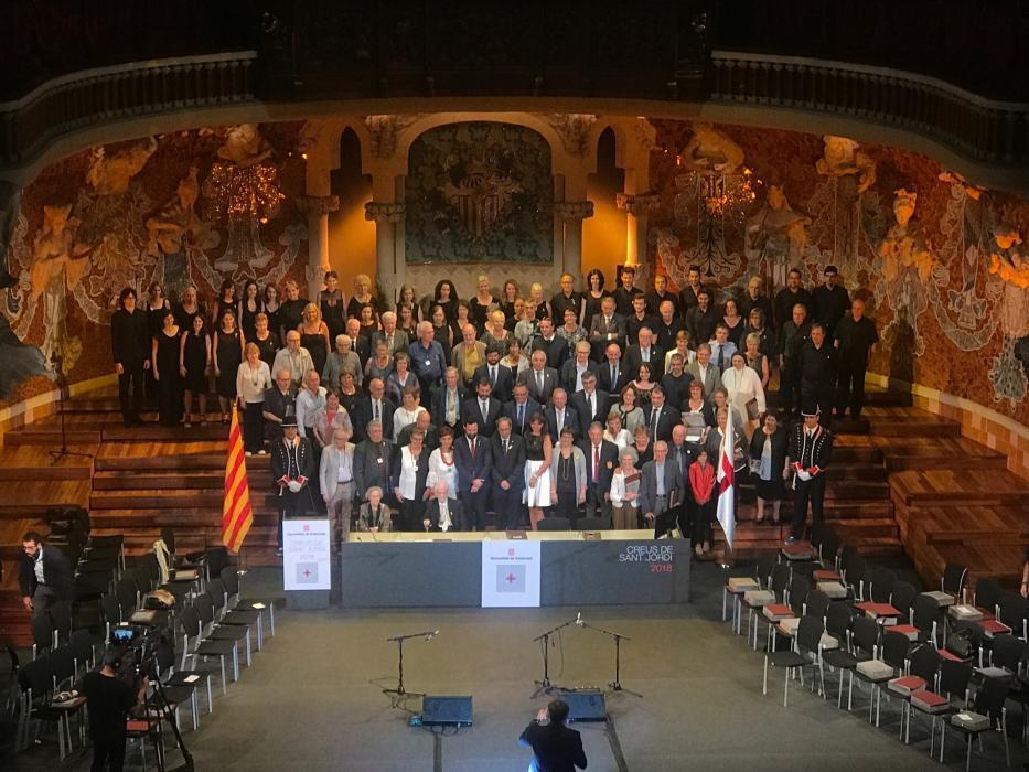 Creus de Sant Jordi 2018. Foto de Regió 7