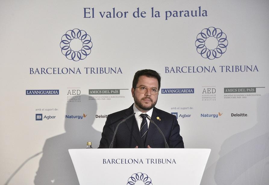 Pere Aragonès inaugura el ciclo 'Elecciones Generales 28-A' en Barcelona Tribuna