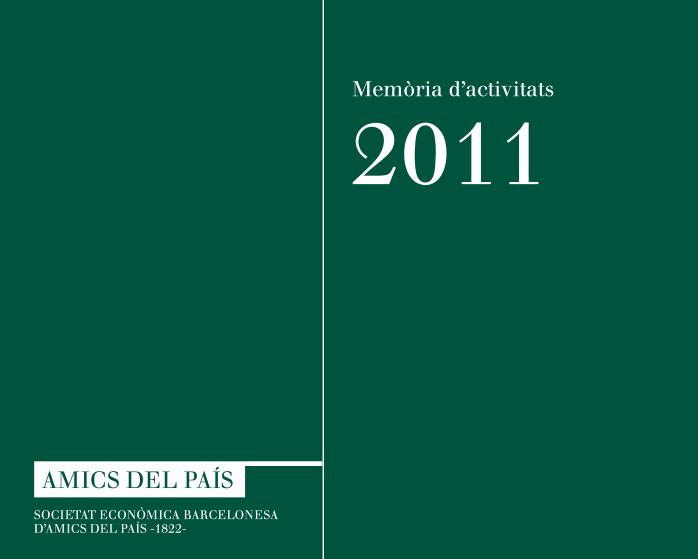 Memòria anual 2011