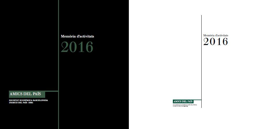 Memòria anual 2016