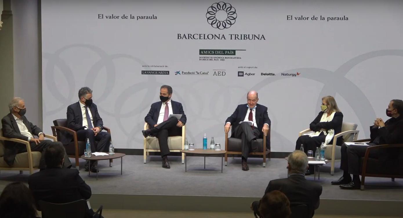 Barcelona Tribuna amb Miquel Molina, Eduardo Mendoza, Carme Riera i Carlos Duran